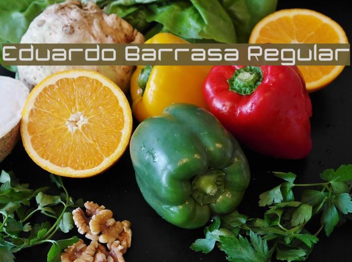 Eduardo Barrasa Regular Шрифта examples