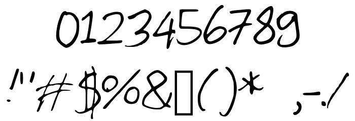 Egg Шрифта ДРУГИЕ символов