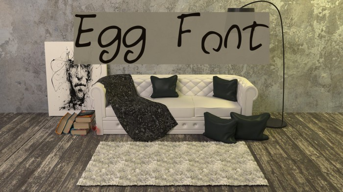 Egg Шрифта examples