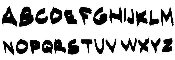 EgidoValMarkerFont Regular Font UPPERCASE