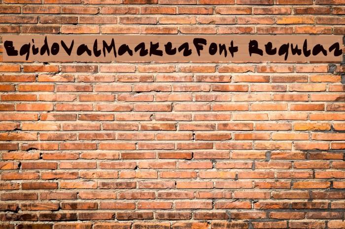 EgidoValMarkerFont Regular Font examples