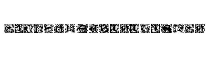 Eichenlaub Initialen  Free Fonts Download