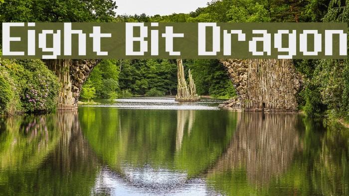 Eight Bit Dragon Schriftart examples