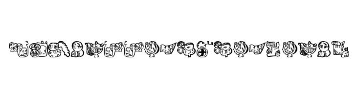 EighteenMayanMonths  Free Fonts Download
