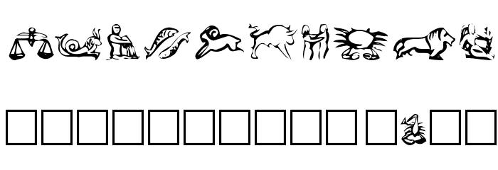 EileensLittleZodiac Шрифта ДРУГИЕ символов