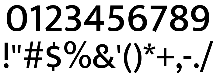 Ek Mukta Medium Font OTHER CHARS