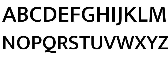 Ek Mukta Medium Font UPPERCASE