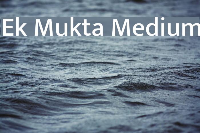 Ek Mukta Medium Font examples