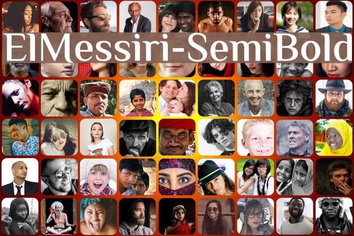 ElMessiri-SemiBold Fuentes examples