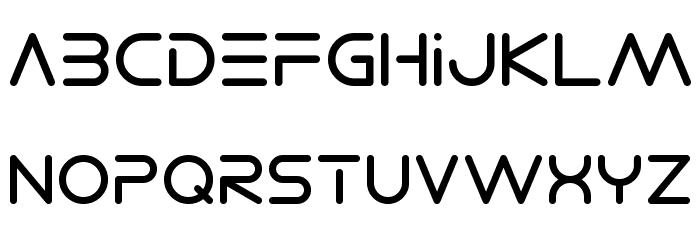 Electro Shackle Font LOWERCASE