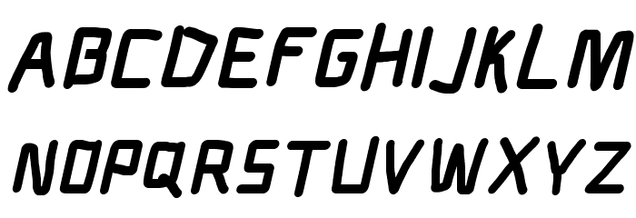 Electronic Nord Italic Шрифта ВЕРХНИЙ
