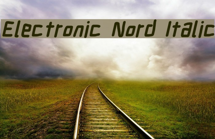 Electronic Nord Italic Шрифта examples