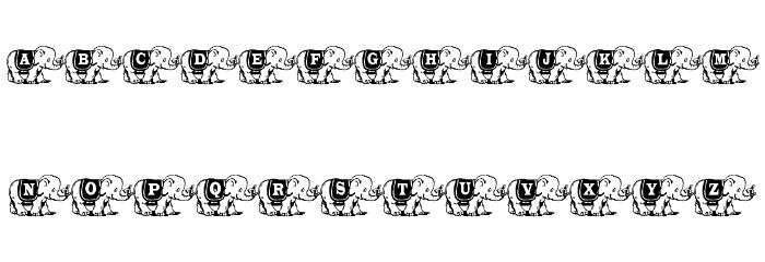 Elefont Font LOWERCASE