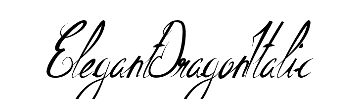ElegantDragonItalic  Descarca Fonturi Gratis