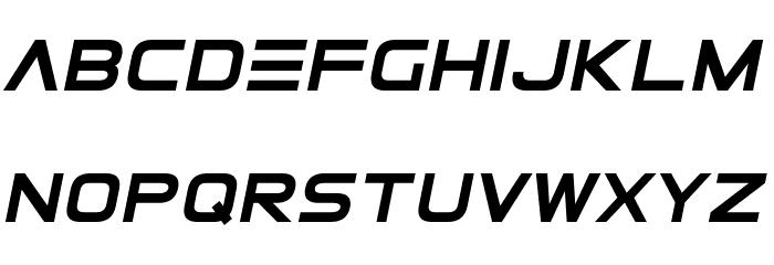 ElementalEnd Italic फ़ॉन्ट अपरकेस