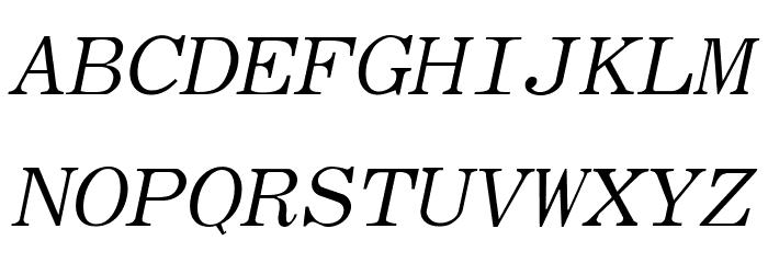 Elite Italic Font UPPERCASE