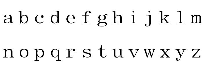 Elite Font LOWERCASE