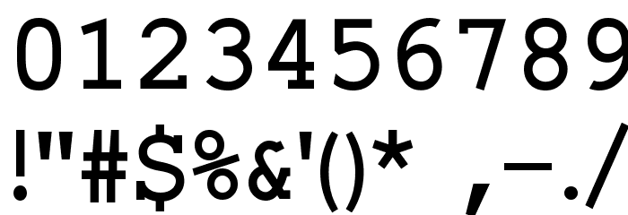 ElroNet Proportional Font OTHER CHARS