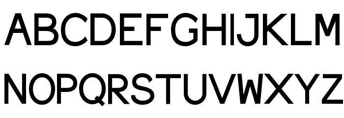 ElroNet Proportional Font UPPERCASE