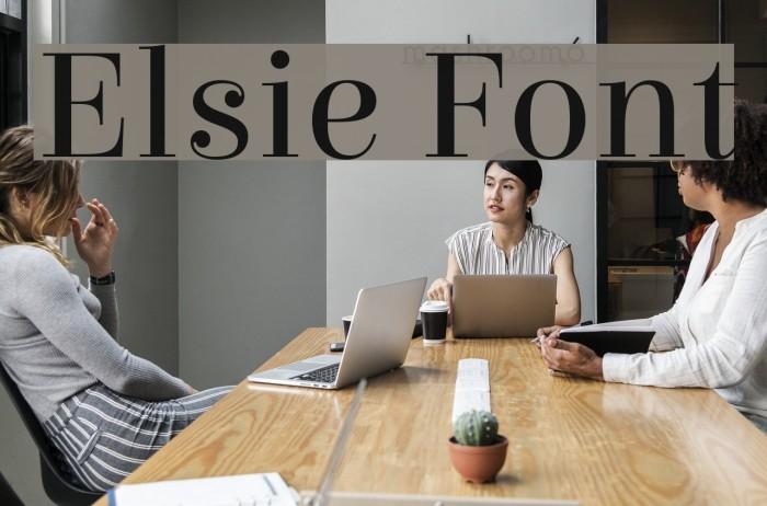 Elsie Font examples