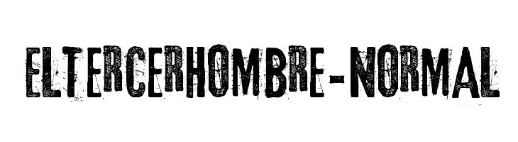 Eltercerhombre-Normal  baixar fontes gratis