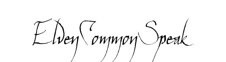 ElvenCommonSpeak  免费字体下载
