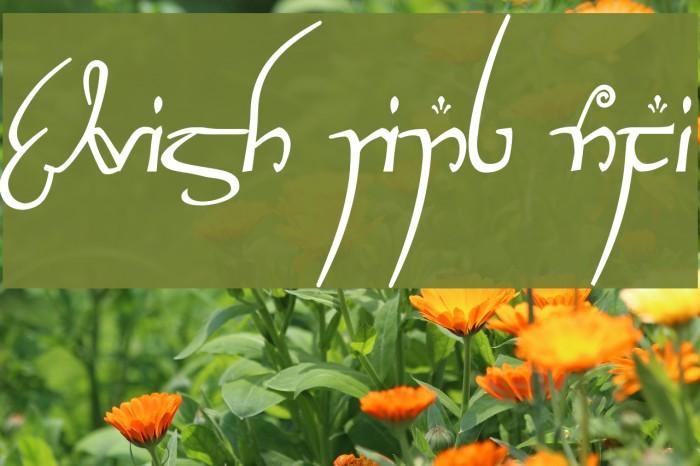 Elvish Ring NFI Font examples
