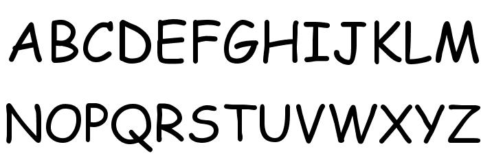 EMcomic-Regular Font UPPERCASE