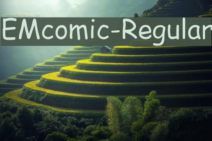 EMcomic-Regular Font examples