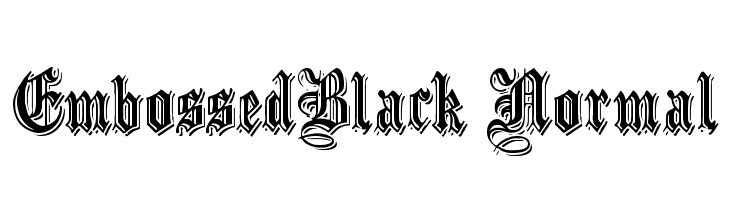 EmbossedBlack Normal  Free Fonts Download