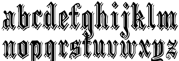 EmbossedBlack Normal Font LOWERCASE