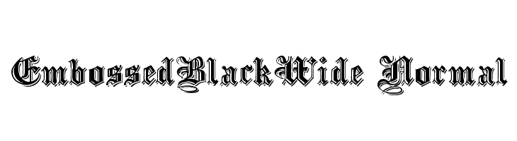 EmbossedBlackWide Normal  Free Fonts Download