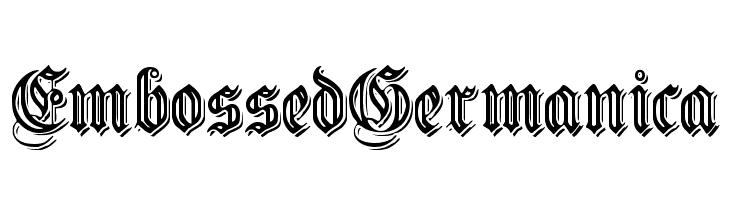 EmbossedGermanica  Frei Schriftart Herunterladen