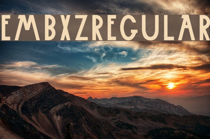 Embxz-Regular 字体 examples