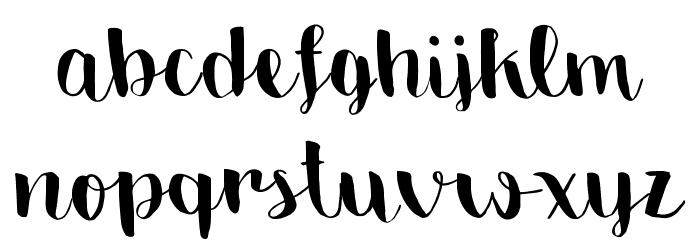 Emily The Brush Demo Regular Font LOWERCASE