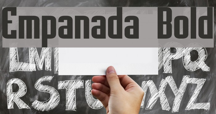 Empanada Bold Font examples