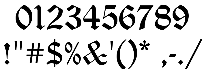 Gothic Calligraphy Numbers Pixshark Images