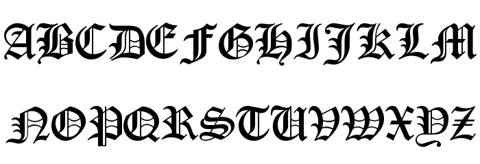 Encient German Gothic Font UPPERCASE
