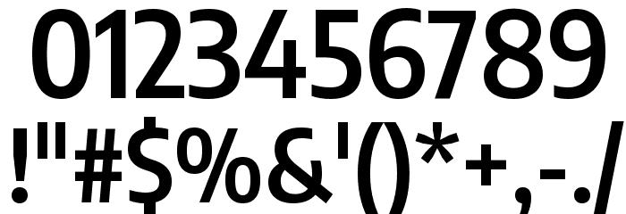 Encode Sans Condensed SemiBold Font OTHER CHARS