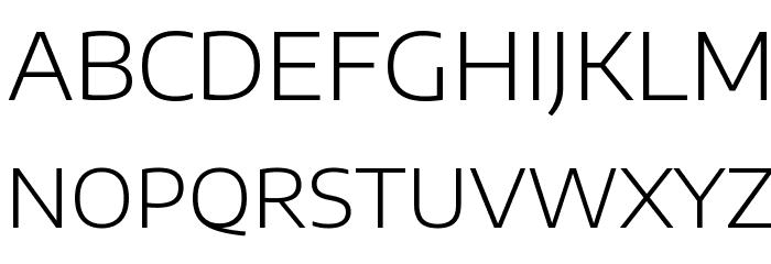 Encode Sans Expanded Light Font UPPERCASE