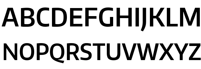 Encode Sans Narrow SemiBold Font UPPERCASE
