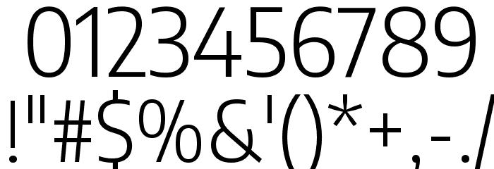 Encode Sans Semi Condensed Light フォント その他の文字