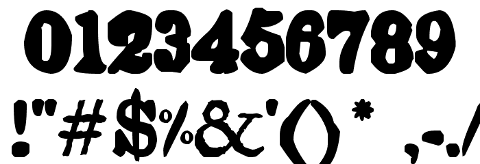 Endemic Roman Font OTHER CHARS