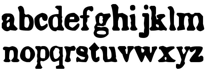 Endemic Roman Font LOWERCASE
