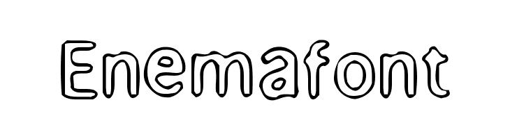 Enemafont  नि: शुल्क फ़ॉन्ट्स डाउनलोड