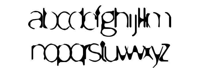 Enervate Font LOWERCASE