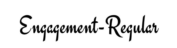 Engagement-Regular  Free Fonts Download