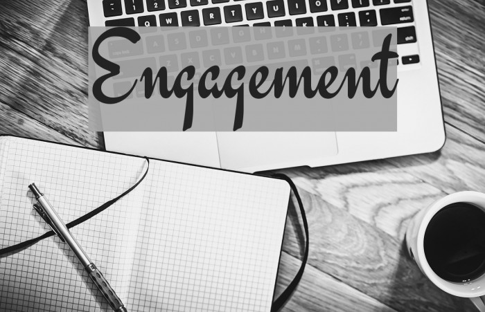 Engagement Font examples