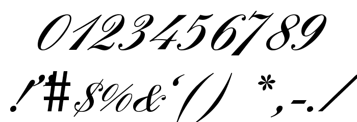 England Hand DB Font OTHER CHARS