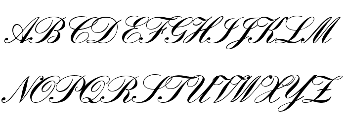 England Hand DB Font UPPERCASE
